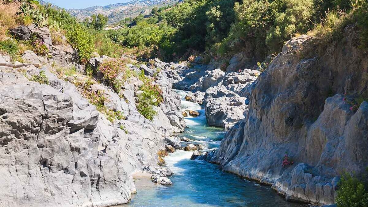 Gole dell'Alcantara, canyon naturale in Sicilia